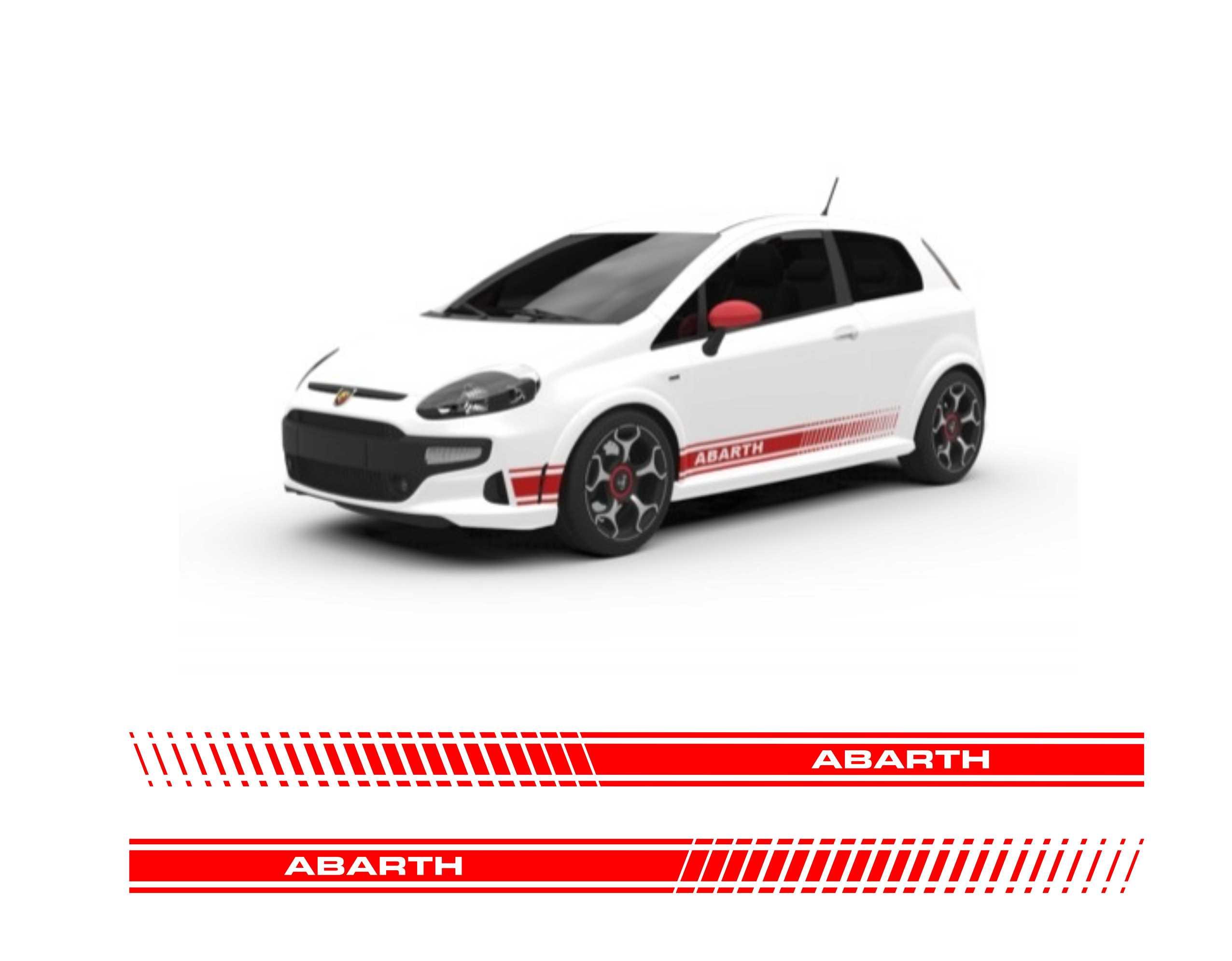 Fiat 500 Abarth Pasy Auto Grafika Naklejki Tuning