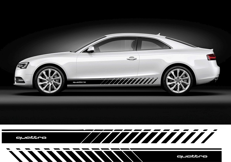 Audi Quattro Pasy Auto Grafika Naklejki Tuning