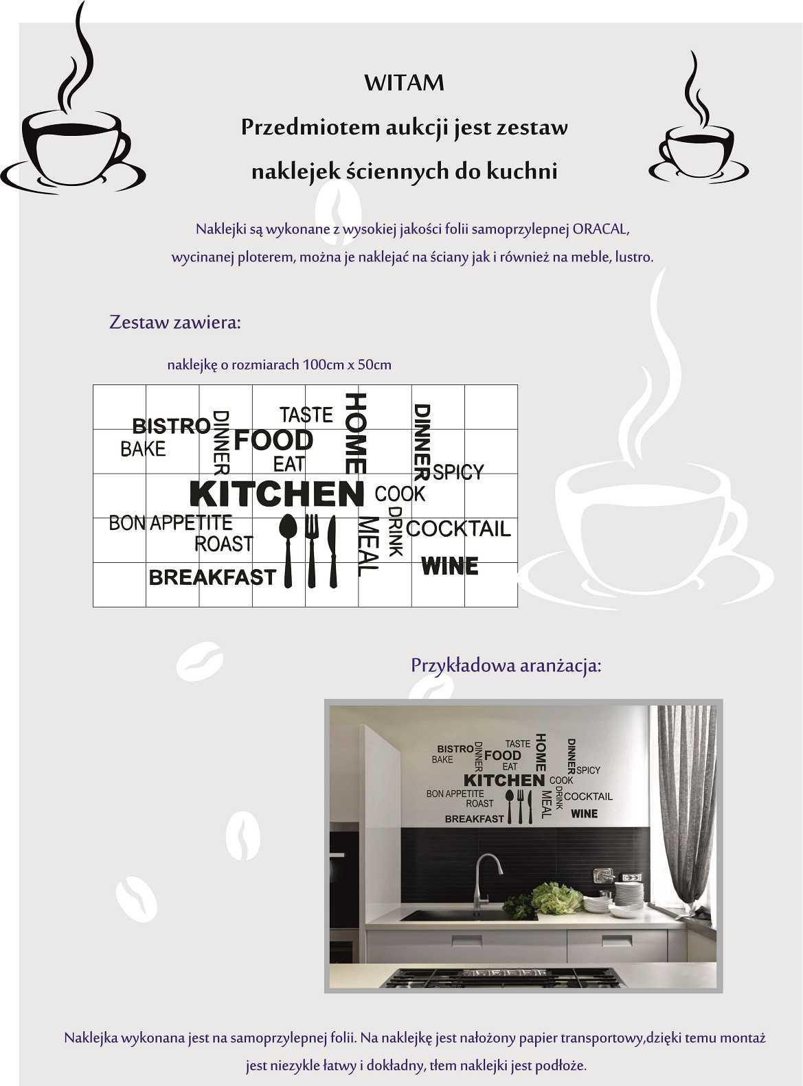 Kuchnia Naklejki Kuchenne Na ścianę Kawa Xxl Enaklejkowo